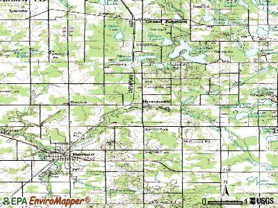 Breedsville topographic map