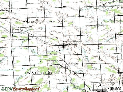 Carsonville topographic map