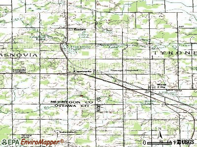 Casnovia topographic map