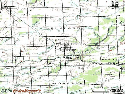 Cass City topographic map