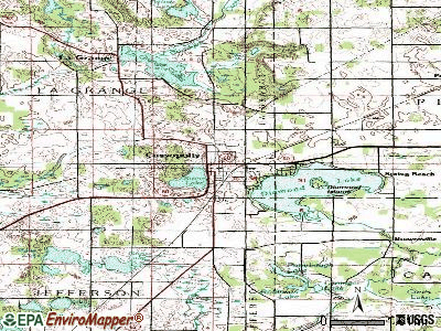 Cassopolis topographic map
