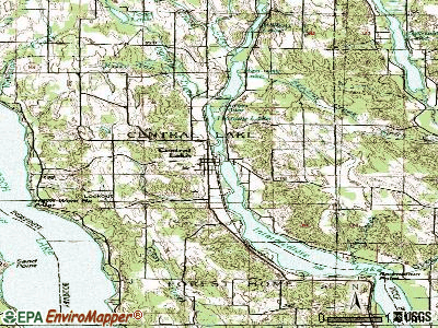 Central Lake topographic map
