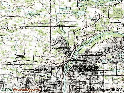 Comstock Park topographic map