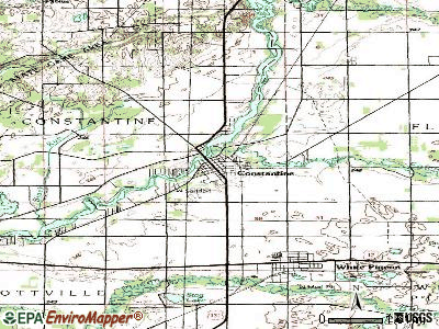 Constantine topographic map