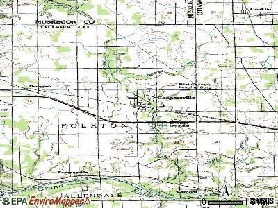Coopersville topographic map