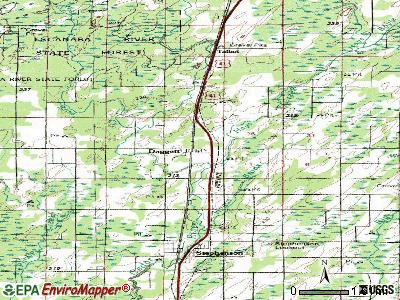 Daggett topographic map