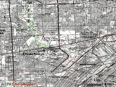 Dearborn topographic map