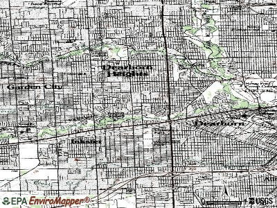 Dearborn Heights topographic map