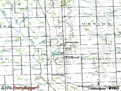 Deckerville topographic map
