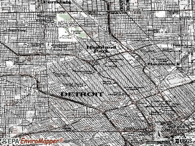 Detroit topographic map