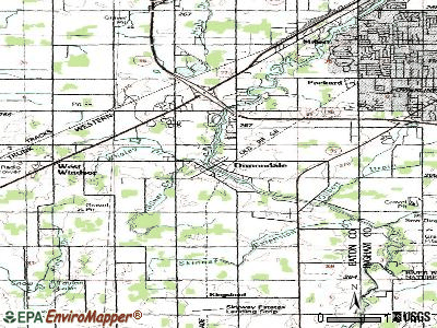 Dimondale topographic map