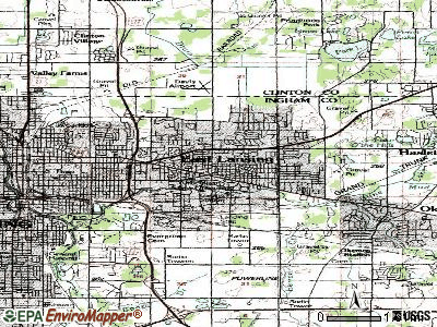 East Lansing topographic map