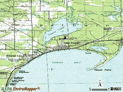 East Tawas topographic map