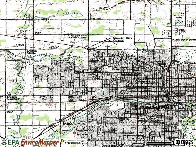 Edgemont Park topographic map