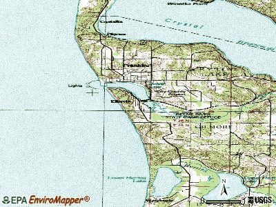 Elberta topographic map