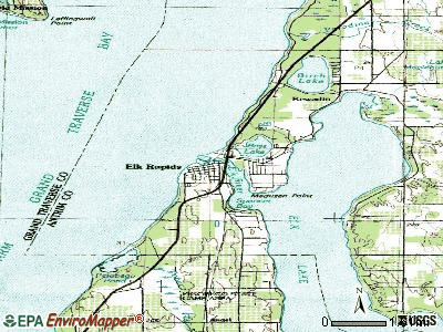 Elk Rapids topographic map