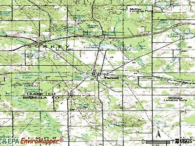Farwell topographic map
