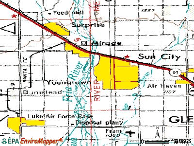 Youngtown topographic map