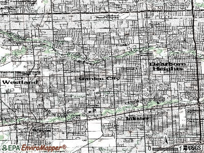Garden City topographic map