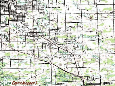 Grand Blanc topographic map