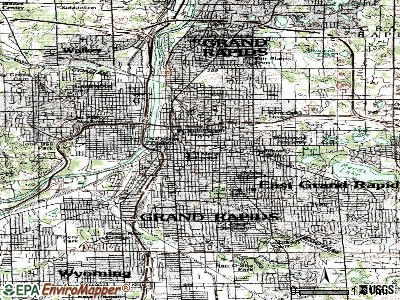 Grand Rapids topographic map