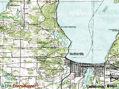 Greilickville topographic map