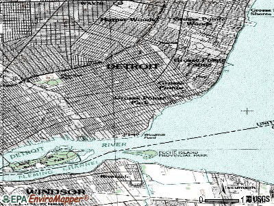 Grosse Pointe Park topographic map