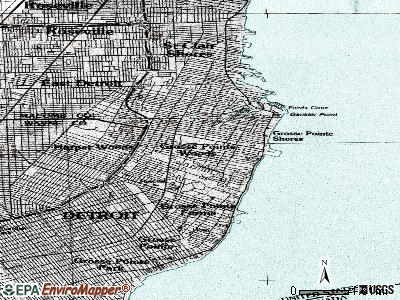Grosse Pointe Woods topographic map