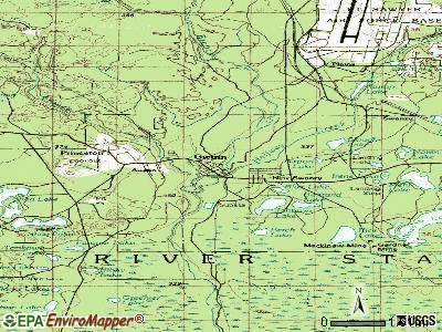 Gwinn topographic map