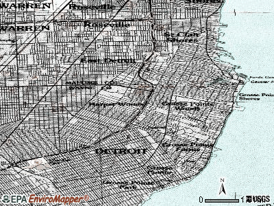 Harper Woods topographic map