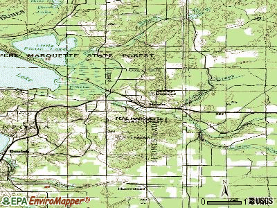 Honor topographic map