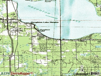 Houghton Lake topographic map