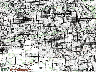 Inkster topographic map