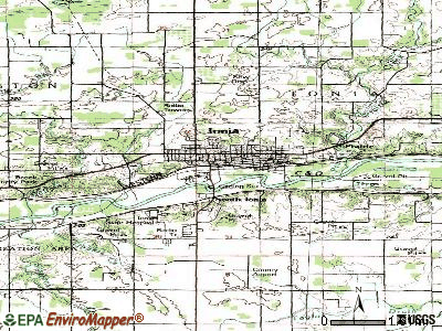 Ionia topographic map