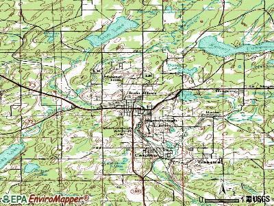 Iron River topographic map