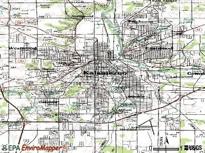 Kalamazoo topographic map