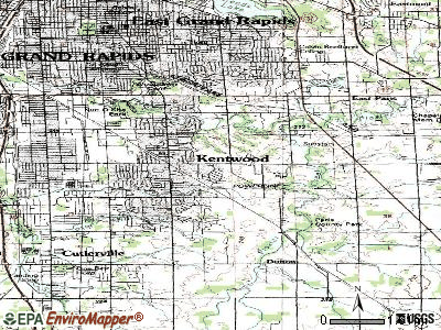 Kentwood topographic map