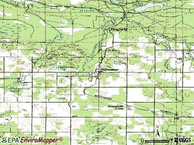 Kingsley topographic map
