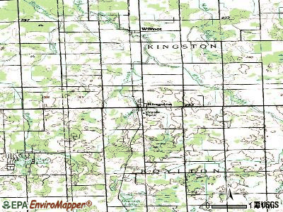 Kingston topographic map