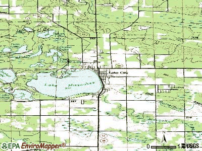 Lake City topographic map