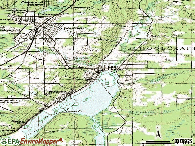 Lake Linden topographic map