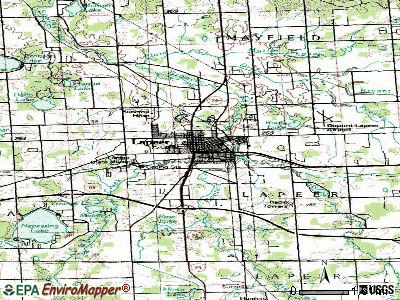 Lapeer topographic map