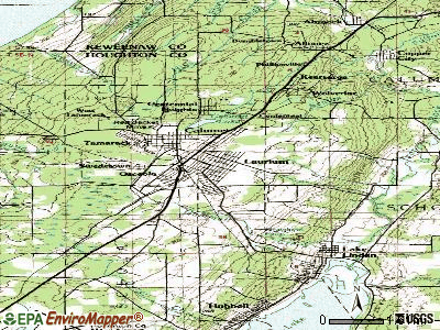 Laurium topographic map