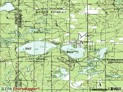 Lewiston topographic map