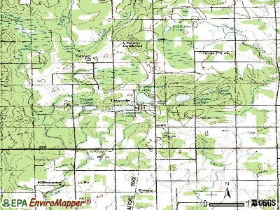 Lincoln topographic map