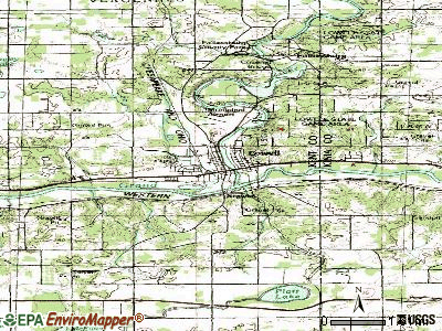 Lowell topographic map