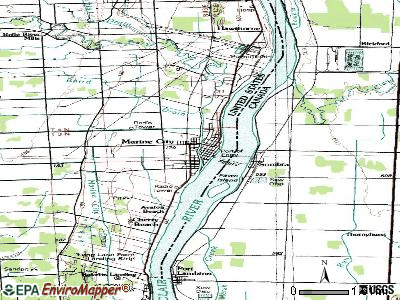 Marine City topographic map