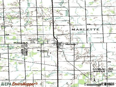 Marlette topographic map