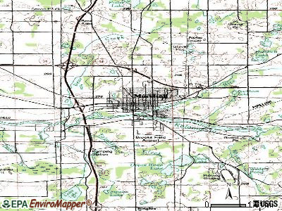 Marshall topographic map