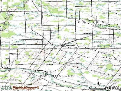 Maybee topographic map